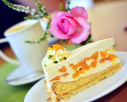 Cake, Mandarin Cake, Cream Cake, Delicious, Tangerines