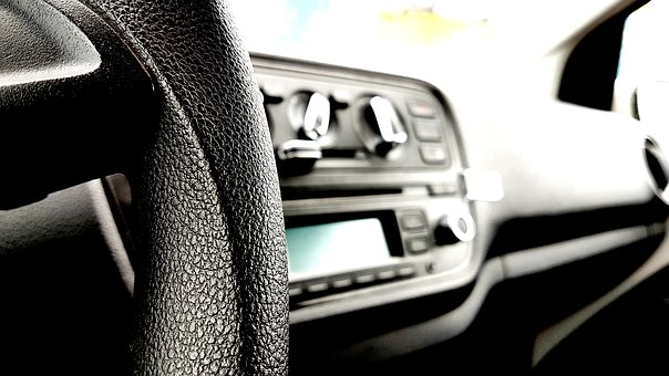 The Interior Of The Car, Car, Steering Wheel, Dashboard