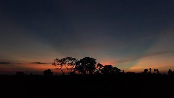India, Dusk, Nature, Outdoor, Landscape, Evening, Dark