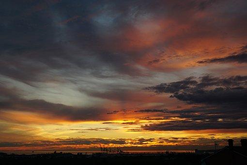 Sunset, Evening Sky, Clouds
