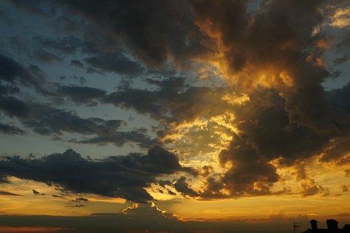 Clouds, Evening Sky, Sunset