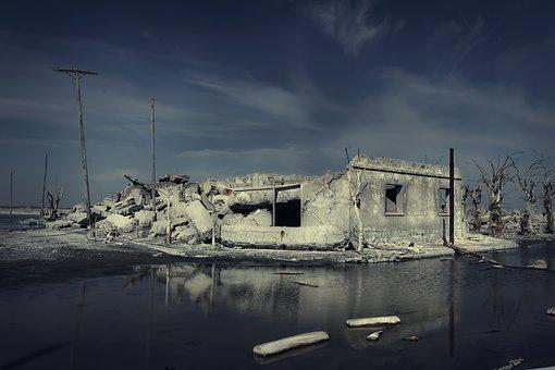 Epecuén, Ruins, Flood, Ruin, Flooding, Decadence, Decay