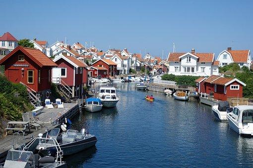Grundsund, The West Coast, Summer, Fishing Huts