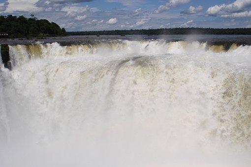 Iguassu, Brazil, Waterfall, Nature, Spray, Argentina