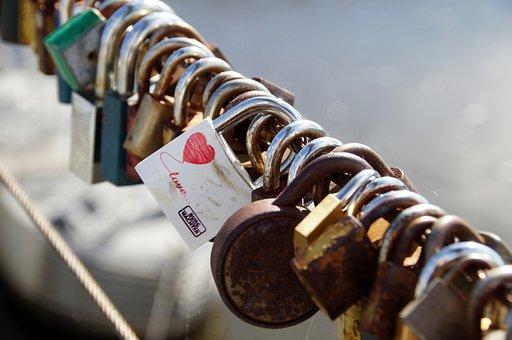 Locks, Padlocks, Mansions, Love, In Love, River