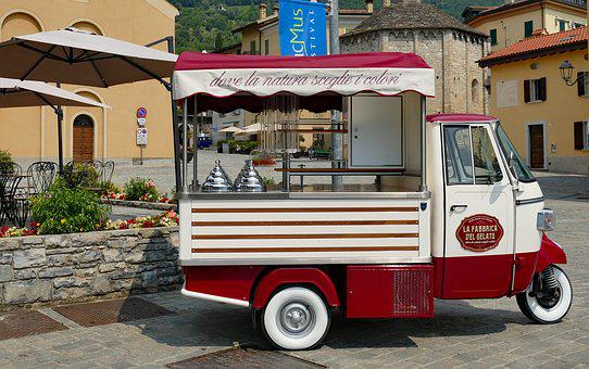 Italy, Ice Cream Truck, Ice Cream, Summer