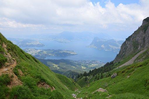 Lake Of The 4 Cantons, Switzerland, Lake, Hiking