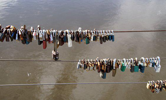 Locks, Padlocks, Mansions, Love, In Love, River