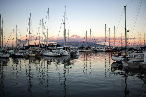 Landscape, Twilight, Marina, Porto, Water, Ocean, Boat