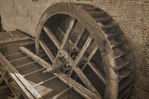 Mill Wheel, Mill, Wassermüle, Water, Waterwheel