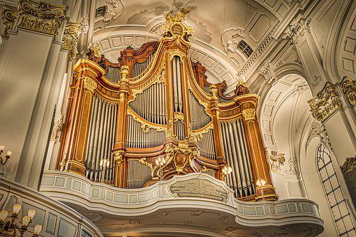 Organ, Pipe, Hamburg, Michel, Church, Instrument, Music