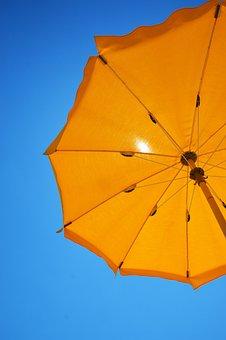 Yellow, Parasol, Summer, Holiday, Umbrella, Beach