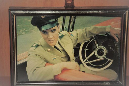 Elvis Presley, Idol, Picture Frame, Photo, Vintage, Pop