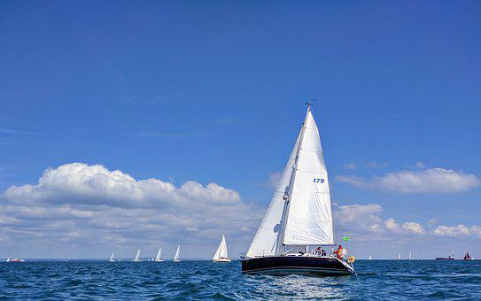 Sailing, Racing, Isle Of Wight, Boat, Yacht, England