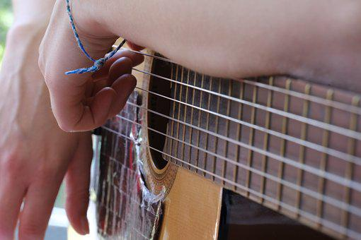 Hand, Arm, Bracelet, Ribbon, Jewellery, Guitar