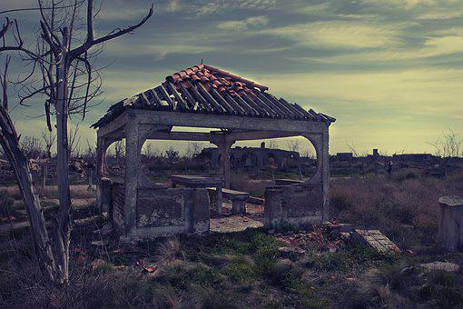 Abandoned, Shredding, Rubble, Broken, Epecuén