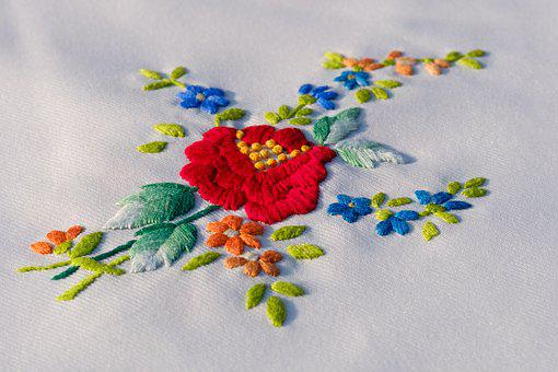 Embroidery, Embroidered, Craft, Handmade, Seamstress