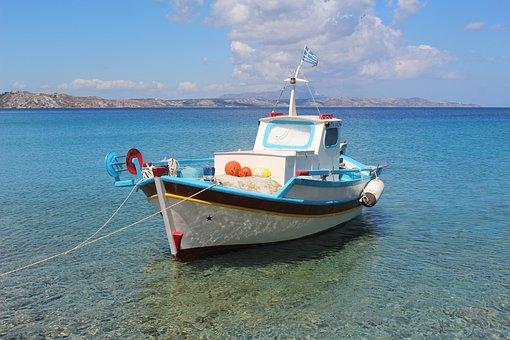 Sea, Boat, Sky, Blue, Landscape, Travel, Vacation