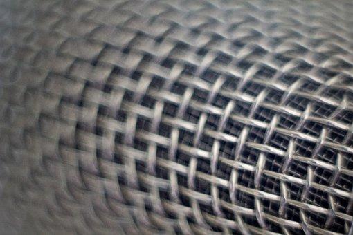 Microphone, Screen, Bokeh, Macro, Communication, Sound