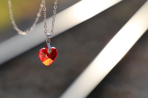 Stop Youth Suicide, Red Heart Medallion On Railway