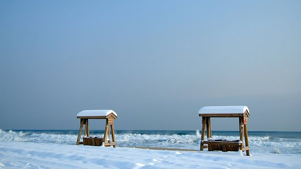 The Snow Came Back, Swing, Jiangmen Beach, Gyeongpo