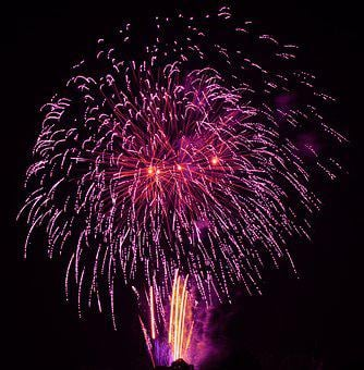Fireworks, Sky, The Eruption, Light, Colorful