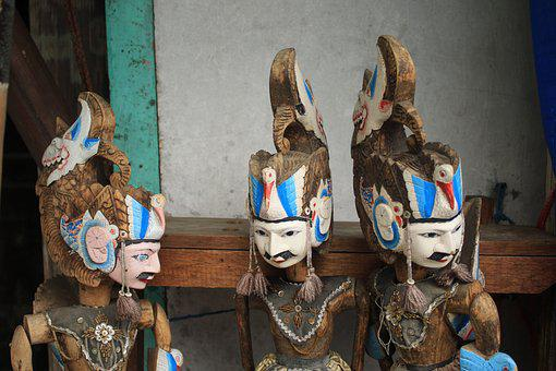 Sculptures, Culture, Wood, Tradition, Asia, Old