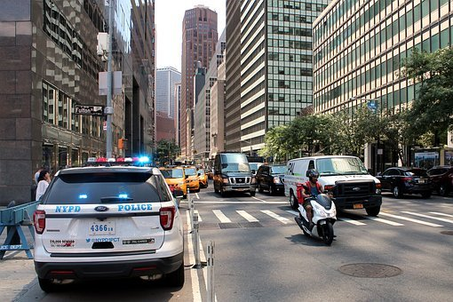 Police, Nypd, Manhattan, Police Car, Cop, Nyc, Traffic