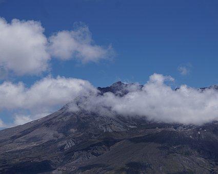 Mt, St, Helens, Volcano, Crater, Peak, Scenic