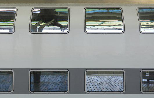 Belgium, Oostende, Ostend, Train, Station, Windows