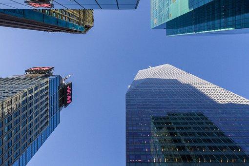 New, York, Offices, Skyscraper, Manhattan, Urban