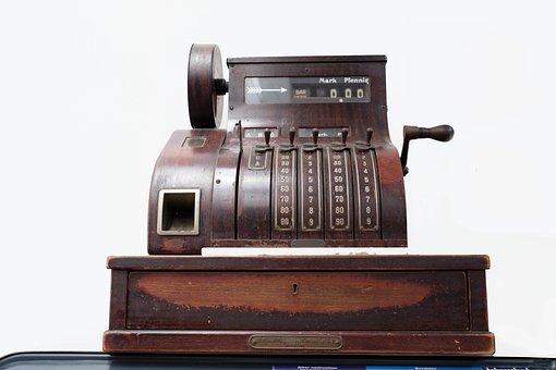 Checkout, Old, Nostalgia, Money, Machine, Antique