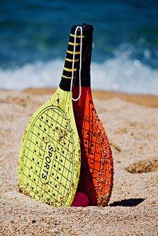 Beach, Sea, Water, Sport, Rackets, Beach Games, Tennis