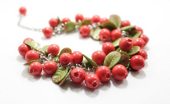 Cranberries, Berry, Red, Ripe, Bracelet, Summer, Juicy