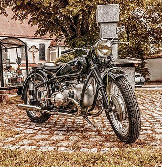 Motorbike, Bmw, Vintage, Classic, Motorcycle, Vehicle