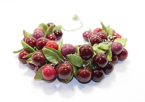 Cherry, Red, Berry, Summer, Sweet, Ripe, Bracelet