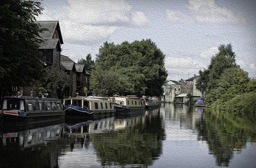 Leigh, Leeds, Liverpool, Canal, Narrowboats, Longboat
