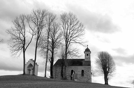 Black And White, Chapel, Building, Church, Old