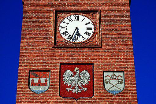 Kołobrzeg, Town Hall Tower, Clock, Clock Tower