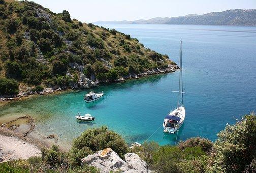 Island, Sea, Croatia, Summer, Holiday, Sailing Boat