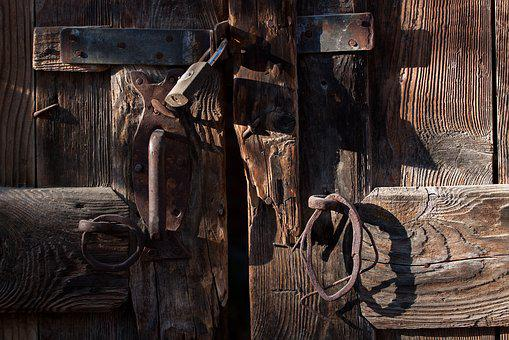 Door, Old, The Building, Architecture, House, Metal