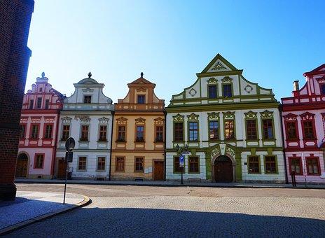 Baroque, House, Architecture, Czechia, City, Facade