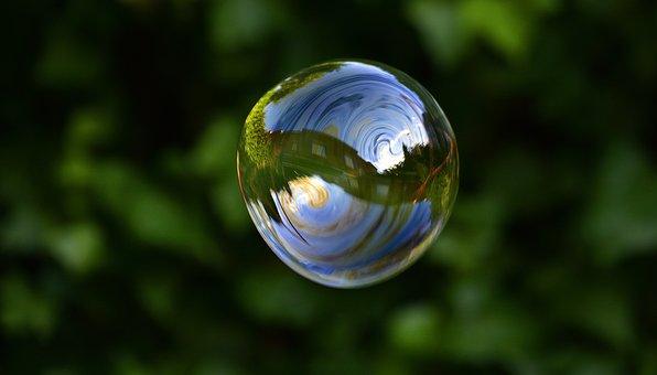 Soap Bubbles, Bubbles, Float, Reflection, Fun