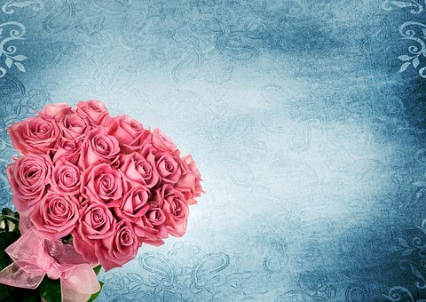 Bouquet, Roses, Background, Romance, Pink, Floral