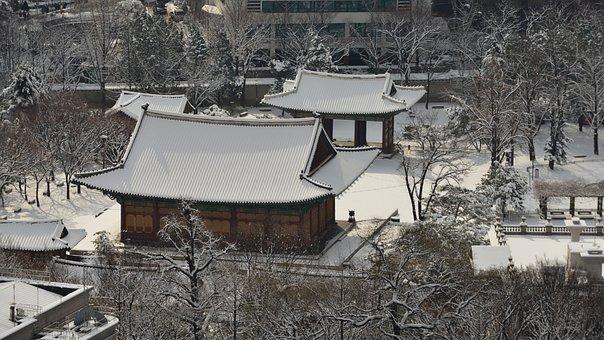 Forbidden City, Snow, Traditional, Historic Sites