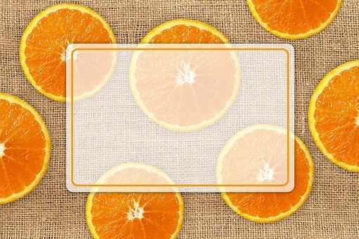 Oranges, Discs, Fruit, Burlap, Texture, Pattern, List