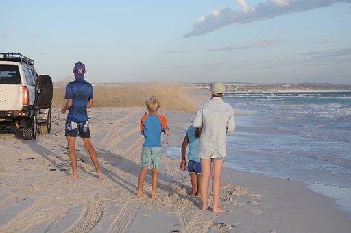Beach Party, Sand, Spray, Car, Coast, Beach, Fun