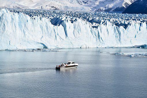 Glacier, Boat, Argentina, Nature