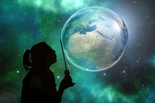 Soap Bubble, Globe, Earth, World, Galaxy, Global