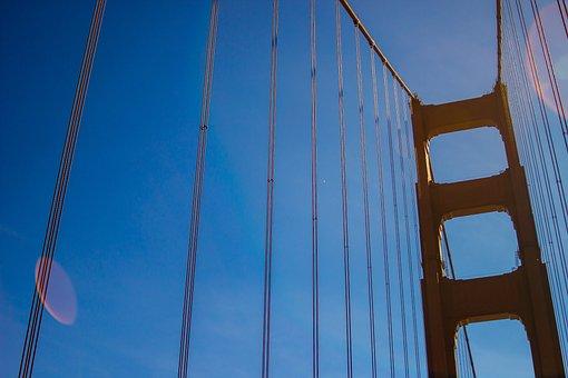 Golden Gate, Bridge, Architecture, Landmark, Travel